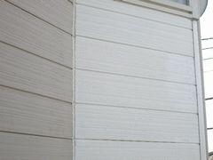 補修して塗装した外壁