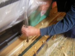 クローゼット折り戸を付ける大工工事1
