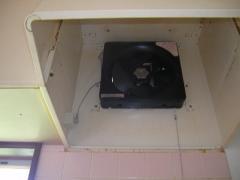 レンジフード掃除後と換気扇交換後