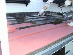 トタン屋根にローラー塗装